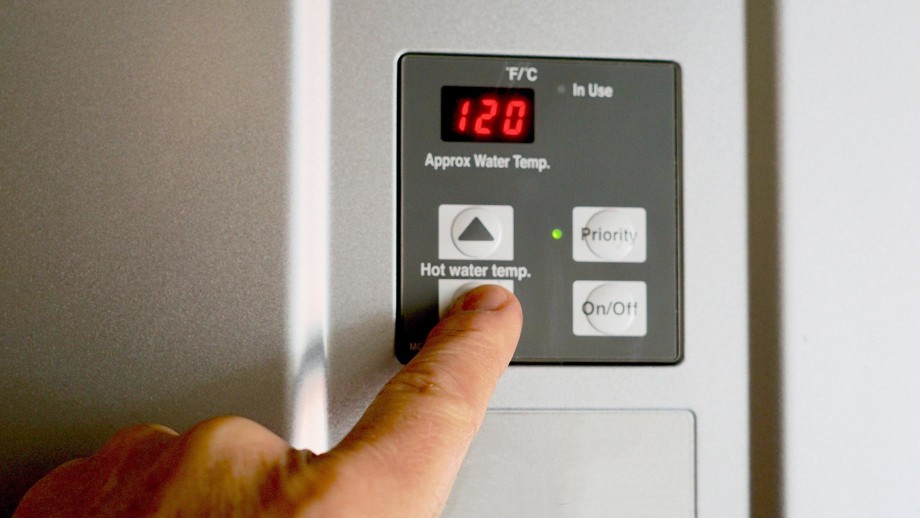Electric Water Heater Temperature Panel in Johnson City