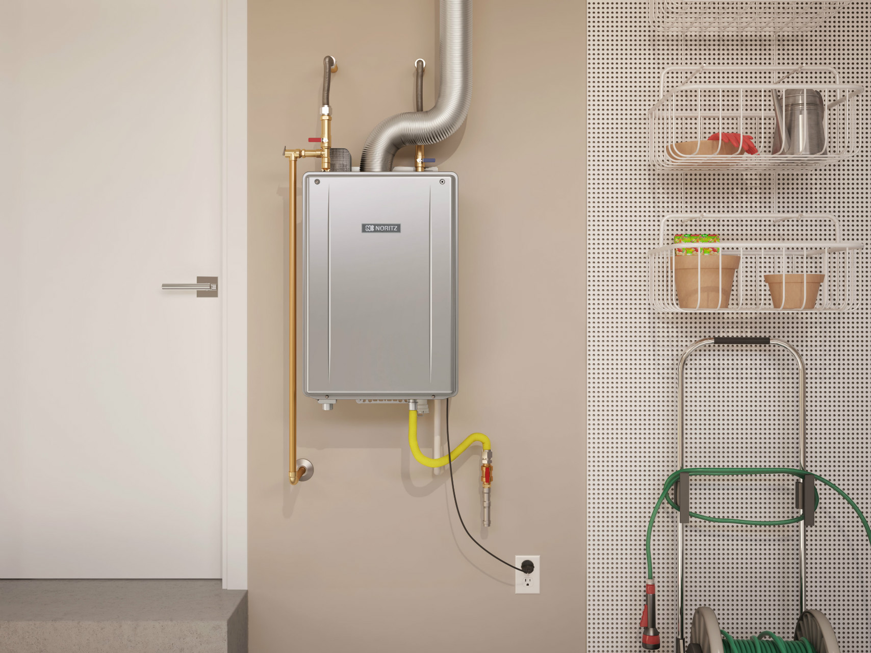 Space-saving Tankless Water Heaters